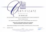 瑞士TESA总部仪器类产品技术服务授权证书