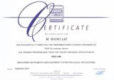 瑞士TESA总部无线传输测量系统技术服务授权证书
